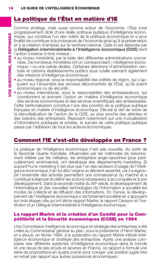 18                                LE GUIDE DE L'INTELLIGENCE ÉCONOMIQUE                                               La p...