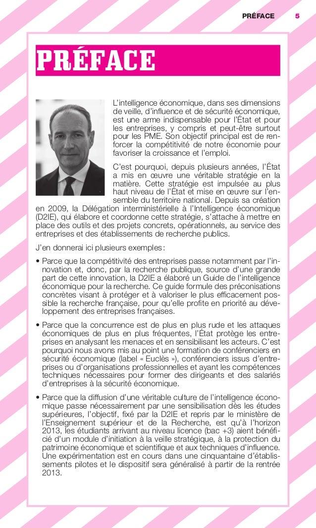 PRÉFACE        5                        PRÉFACE                                                   L'intelligence économiqu...