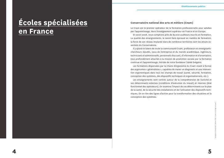 Établissements publics     Écoles spécialisées   Conservatoire national des arts et métiers (Cnam)   en France            ...