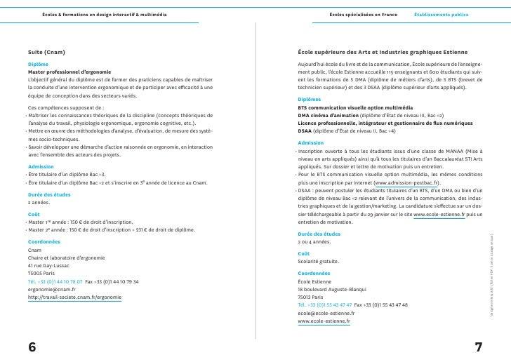 Écoles & formations en design interactif & multimédia                                     Écoles spécialisées en France   ...