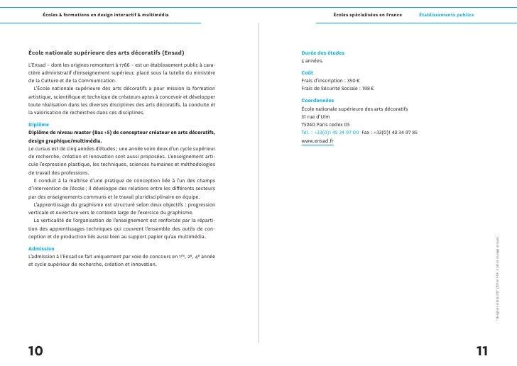 Écoles & formations en design interactif & multimédia                                        Écoles spécialisées en France...