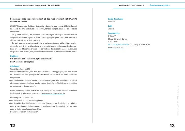 Écoles & formations en design interactif & multimédia                                            Écoles spécialisées en Fr...