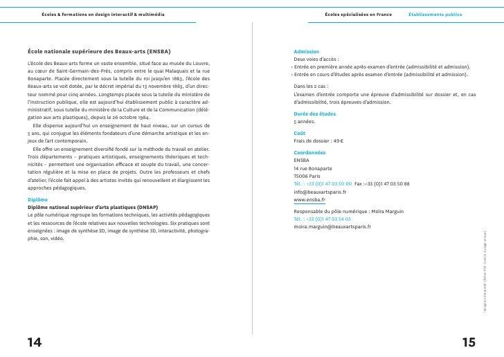 Écoles & formations en design interactif & multimédia                                             Écoles spécialisées en F...