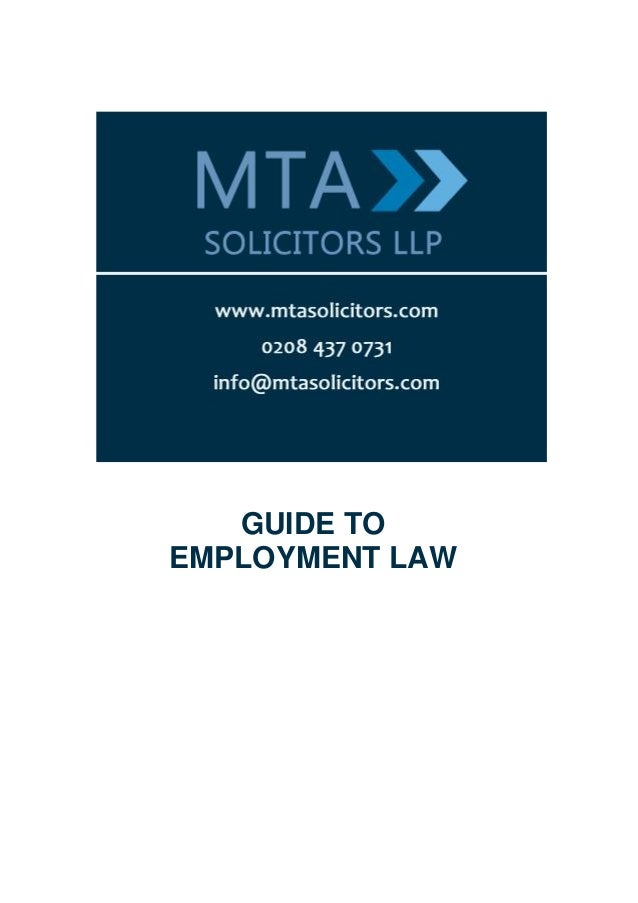 GUIDE TOEMPLOYMENT LAW