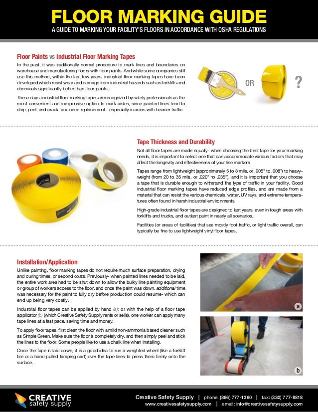 Floor Tape and Marking Guide to OSHA compliance Slide 2