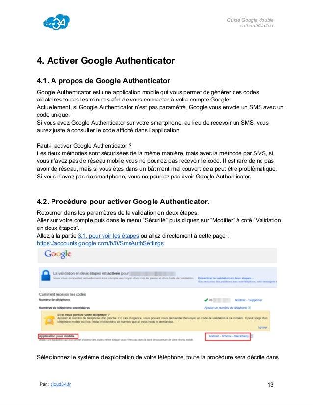 GuideGoogledouble authentification  4.ActiverGoogleAuthenticator 4.1.AproposdeGoogleAuthenticator GoogleAuthent...
