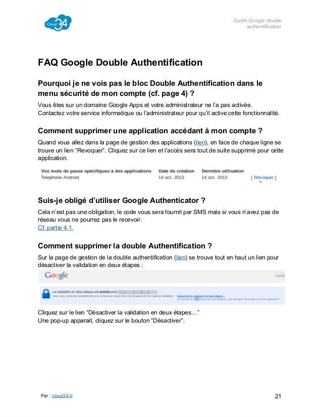 GuideGoogledouble authentification  FAQGoogleDoubleAuthentification PourquoijenevoispasleblocDoubleAuthentifi...