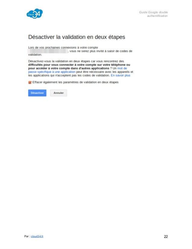 GuideGoogledouble authentification  Par:cloud34.fr  22