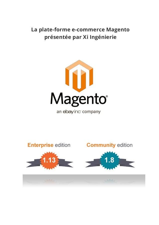 La plate-forme e-commerce Magento présentée par Xi Ingénierie