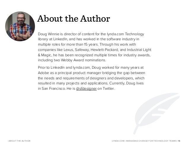 About lynda.com WEBSITE: www.lynda.com/enterprise EMAIL: enterprisesolutions@lynda.com REQUEST A DEMO: www.lynda.com/reque...
