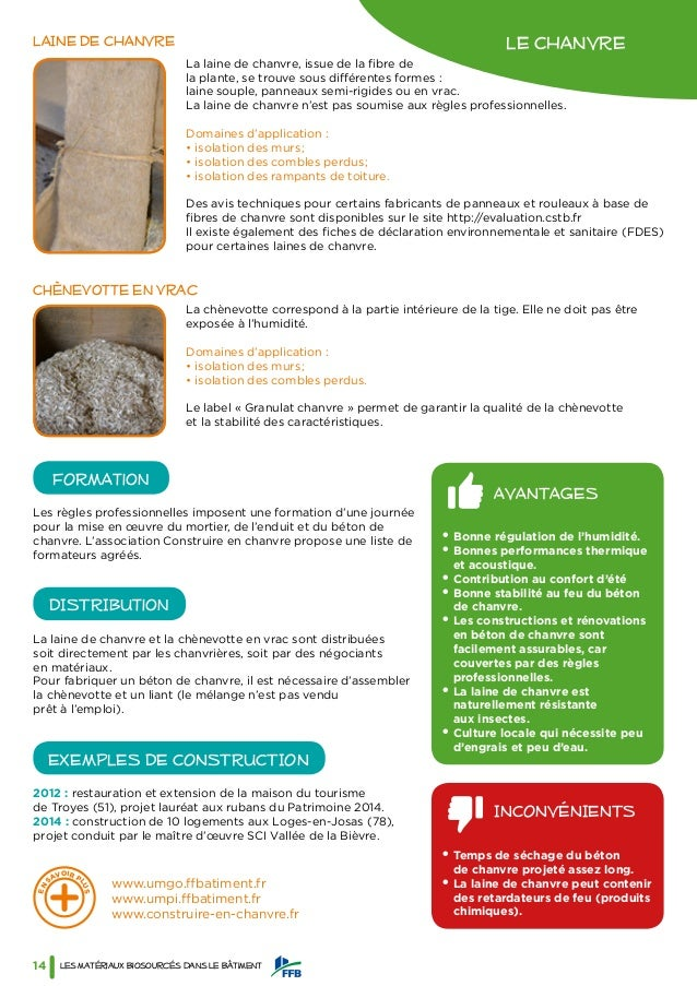 guide des mat riaux biosourc s ffb. Black Bedroom Furniture Sets. Home Design Ideas