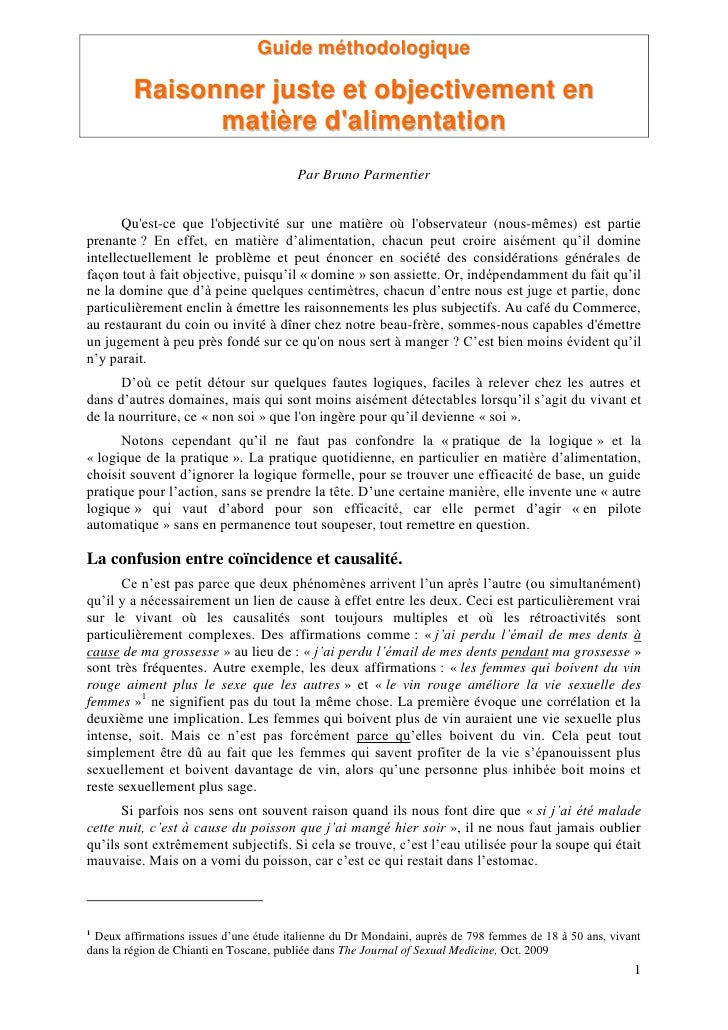 Guide méthodologique         Raisonner juste et objectivement en               matière dalimentation                      ...