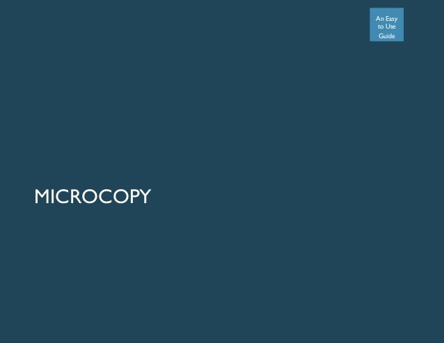 An Easy to Use Guide MICROCOPY