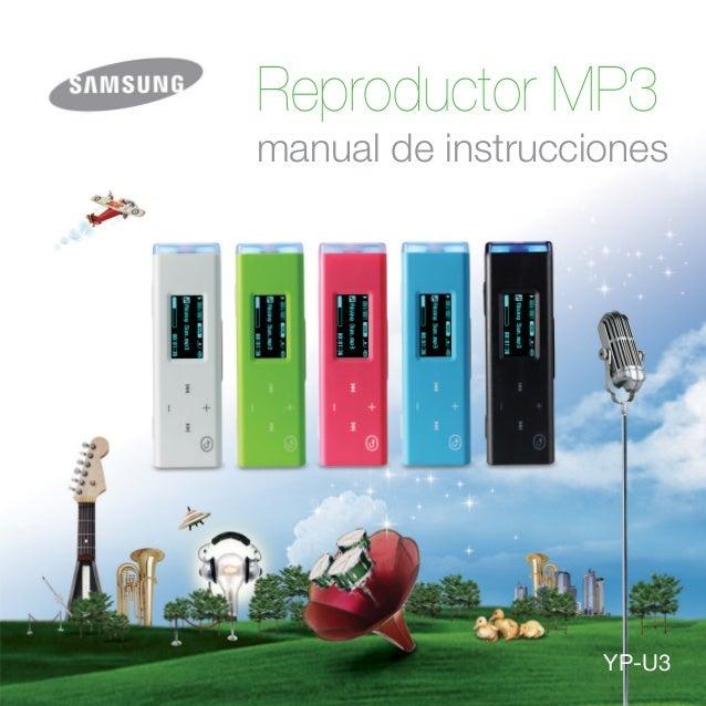 Reproductor MP3 manual de instrucciones YP-U3