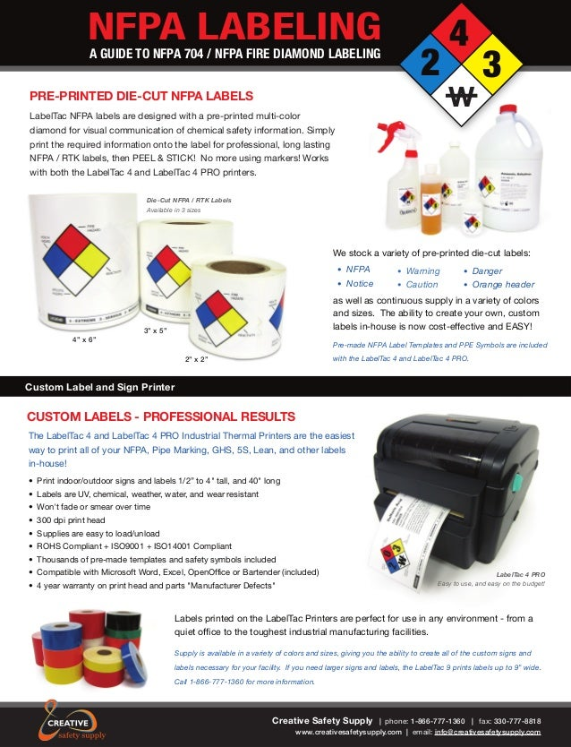 Free Nfpa Guide Safety Information On Labels And Label