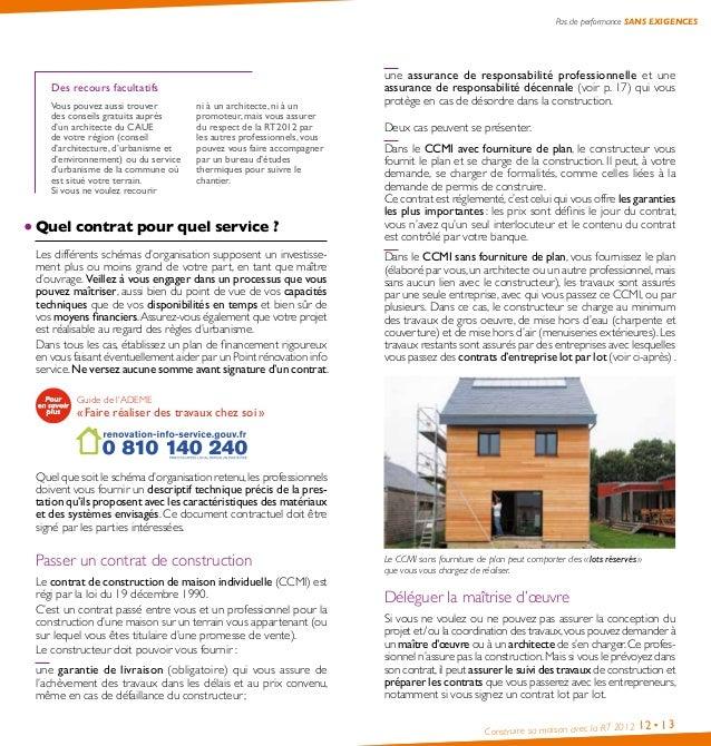 guide pratique construire sa maison avec la rt2012 ademe