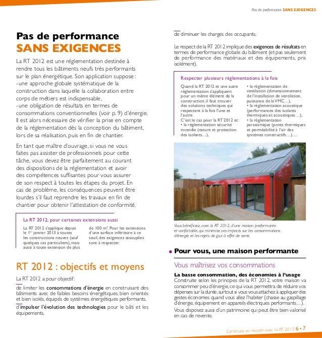 Guide Pratique Comment Construire Sa Maison Avec La Rt 2012 Ademe - T…
