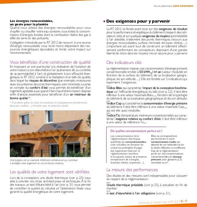 Guide pratique comment construire sa maison avec la rt for Prix moyen m2 construction neuve rt 2012