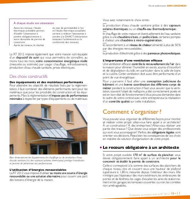 Guide Pratique Comment Construire Sa Maison Avec La Rt  Ademe  T