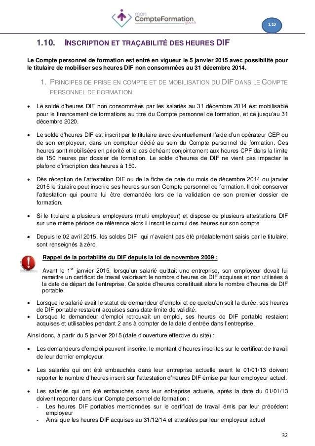 Guide Procedures Cpf Pour Les Professionnels