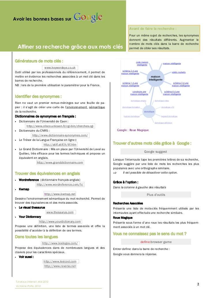 Méthodologie et astuces de recherche sur Internet par Victorine Porte Slide 2