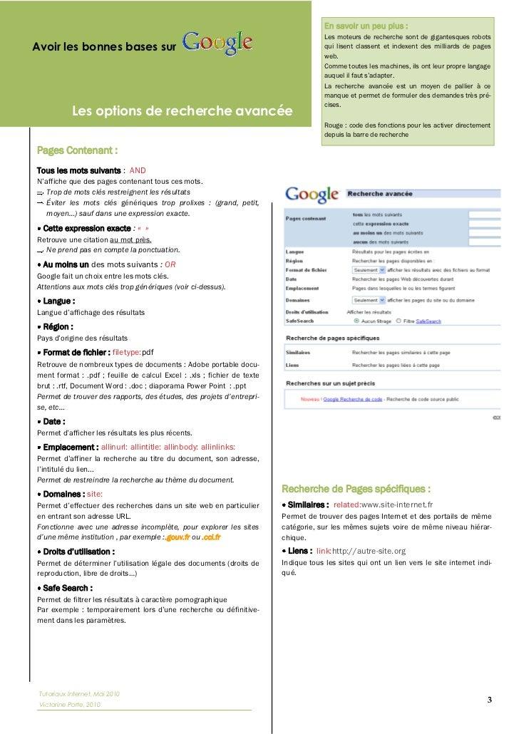 Méthodologie et astuces de recherche sur Internet par Victorine Porte Slide 3