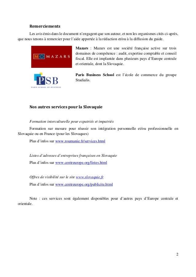 Guide des adresses utiles pour les affaires et l'expatriation en Slovaquie Slide 2