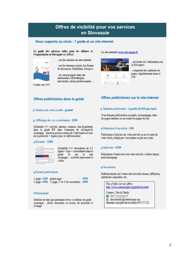 Guide des adresses utiles pour les affaires et l'expatriation en Slovaquie Slide 3