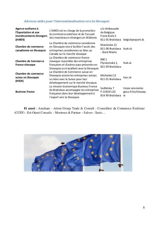 Guide des adresses utiles pour les affaires et l for Chambre de commerce franco canadienne