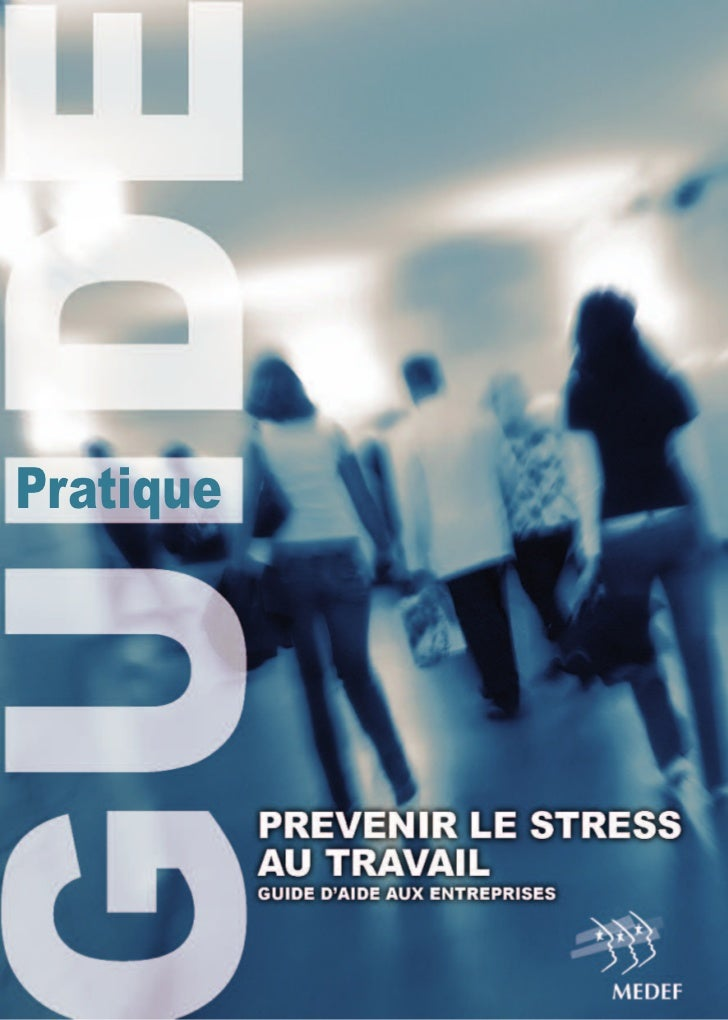 Guide stress travail medef for Stress travail