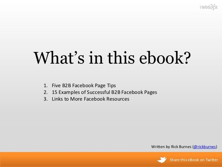 A Visual Guide to B2B Facebook Pages Slide 2