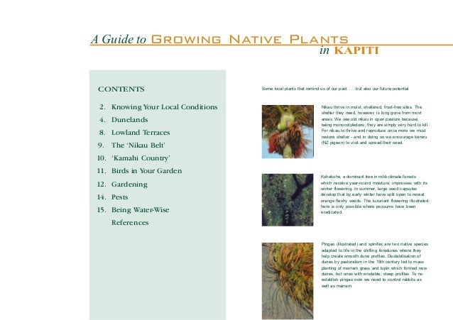 A Guide to Growing                  Native Plants                                                                      in ...