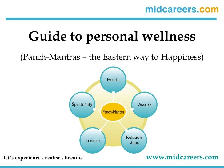 Guide to personal wellness (Panch-Mantras – the Eastern way to Happiness) let's experience . realise . become   www.midcar...