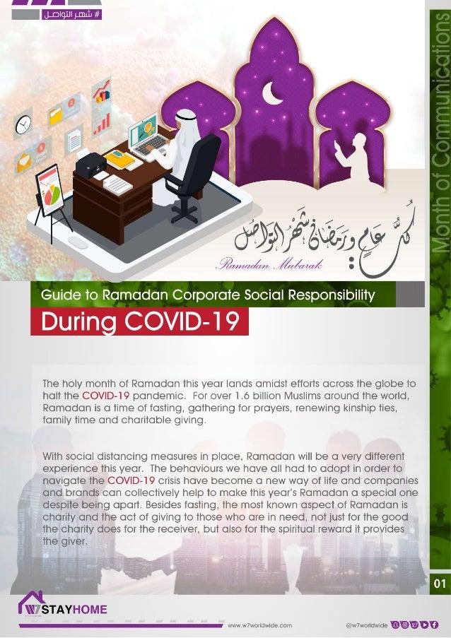 Guide to Ramadan Corporate Social Responsibility during COVID-19 en