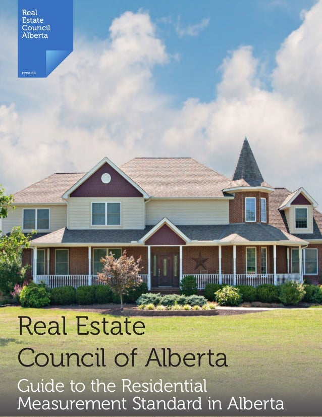 High Quality 1 Real Estate Council Of Alberta Guide To The Residential Measurement  Standard In Alberta ...
