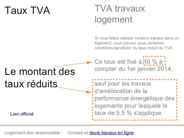 Tva travaux maison good mesure transitoire with tva for Quel taux tva appliquer