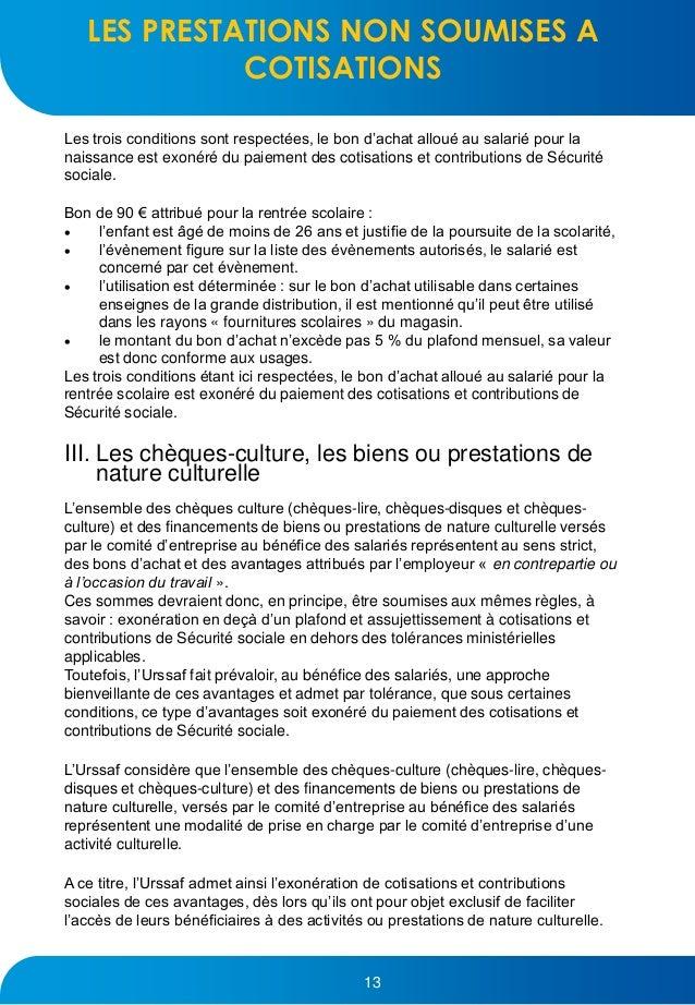 Guide urssaf comite entreprise 2017 - Plafond mensuel de la securite sociale ...