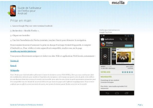 firefox pour android guide de l 39 utilisateur. Black Bedroom Furniture Sets. Home Design Ideas