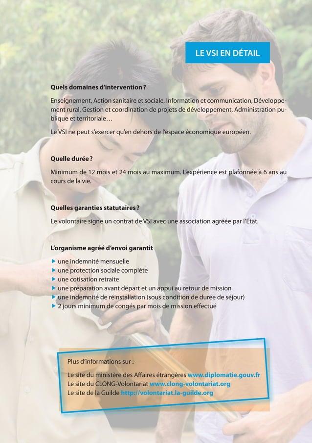 15 LE VSI EN DÉTAIL Plus d'informations sur : Le site du ministère des Affaires étrangères www.diplomatie.gouv.fr Le site ...