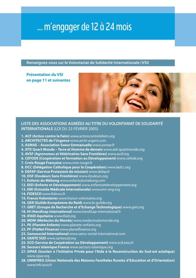 21 Renseignez-vous sur le Volontariat de Solidarité Internationale (VSI) …m'engagerde12à24mois Présentation du VSI en page...
