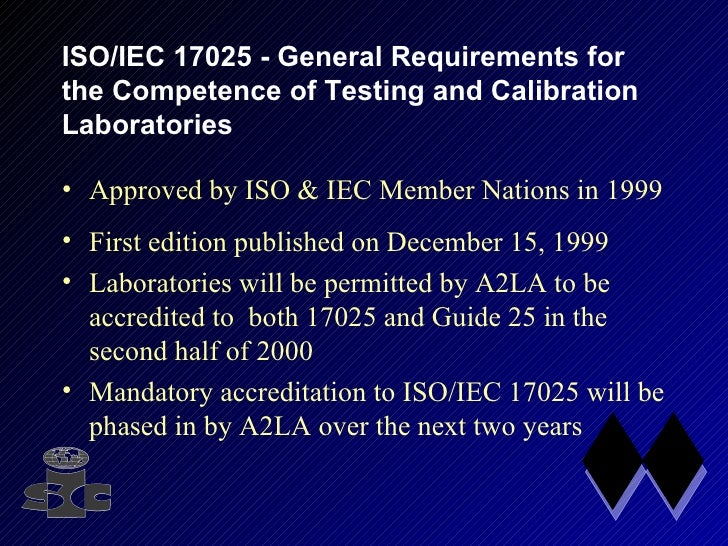 Guide25 Vs Iso  Iec17025