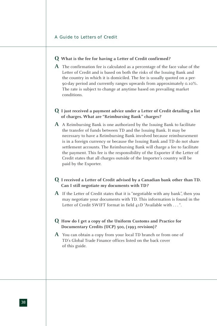 Guide2lc standby letters of credit mitanshu Gallery