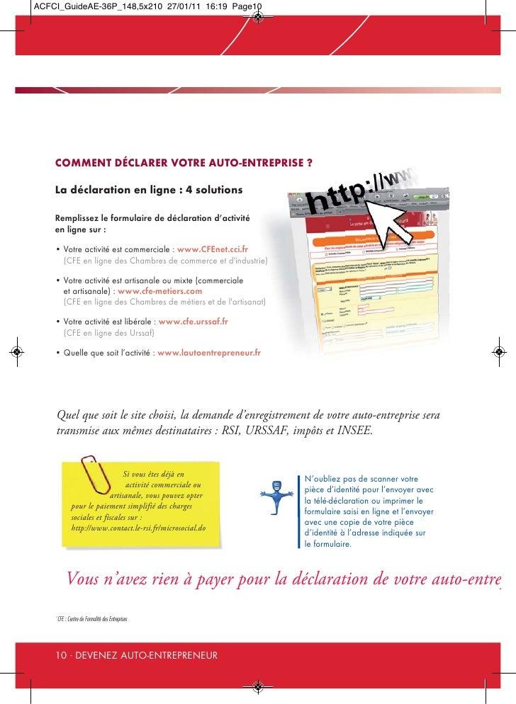 Guide de l 39 auto entrepreneur 2011 for Auteur auto entrepreneur