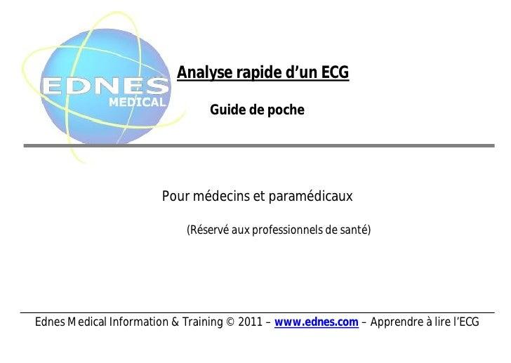 Analyse rapide d'un ECG                                 Guide de poche                        Pour médecins et paramédicau...