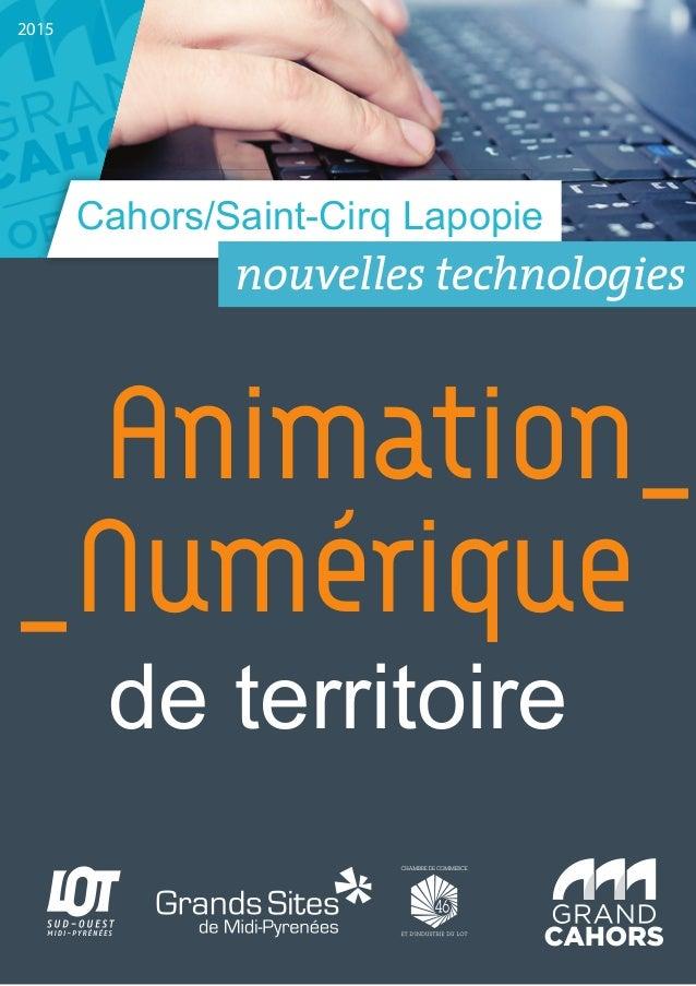 Cahors/Saint-Cirq Lapopie 2015 Animation_ _Numérique de territoire