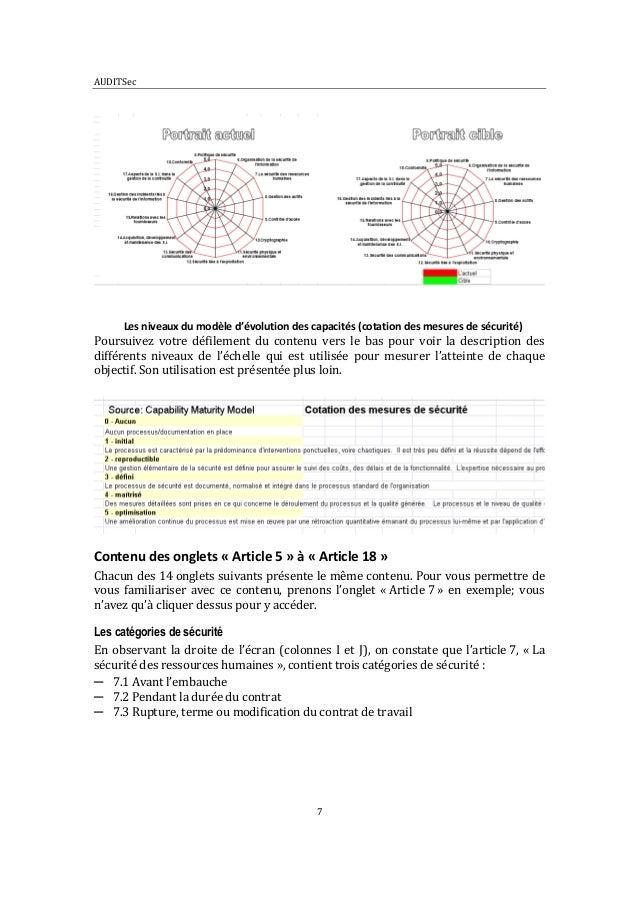 guide d u0026 39 utilisation de l u0026 39 outil auditsec bas u00e9 sur la