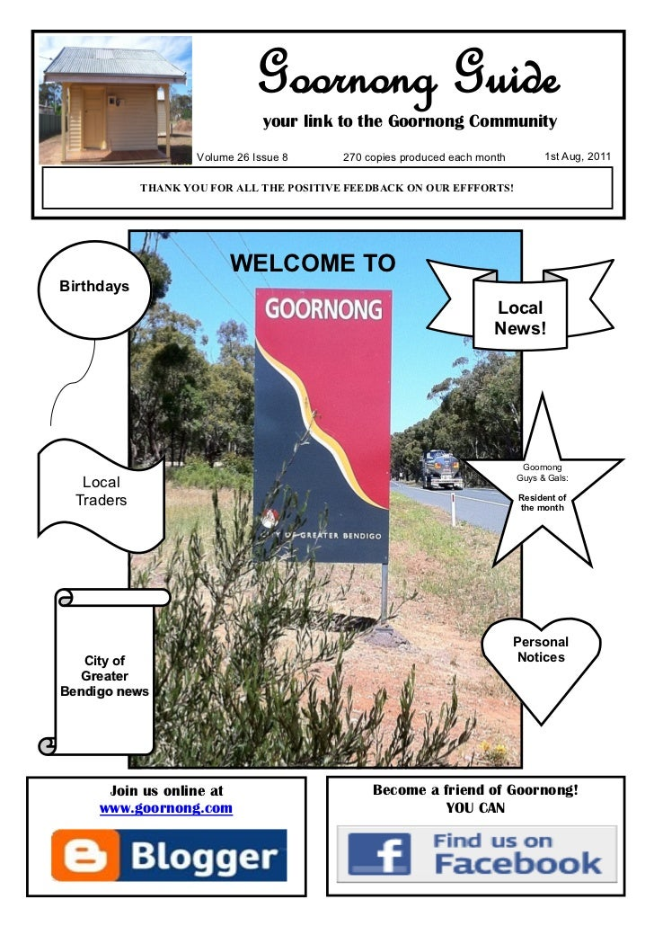 Goornong Guide                                your link to the Goornong Community                    Volume 26 Issue 8    ...