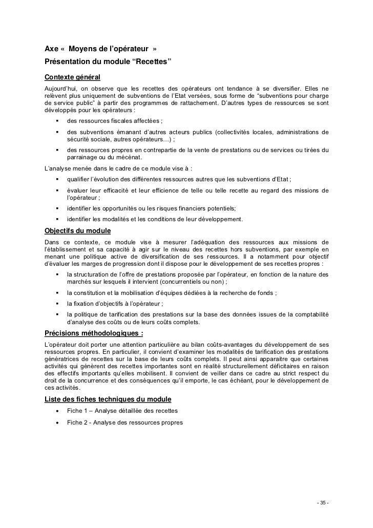 """Axe « Moyens de l'opérateur »Présentation du module """"Recettes""""Contexte généralAujourd'hui, on observe que les recettes des..."""