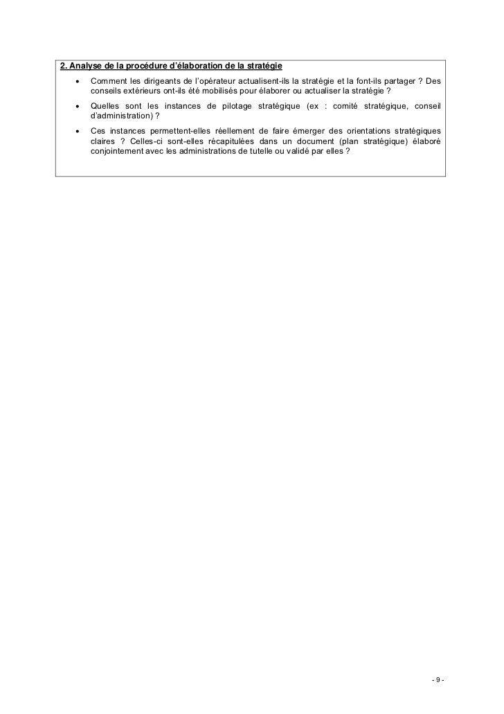 2. Analyse de la procédure d'élaboration de la stratégie   •   Comment les dirigeants de l'opérateur actualisent-ils la st...