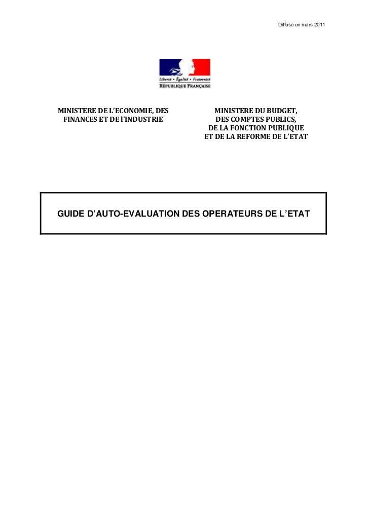 Diffusé en mars 2011MINISTEREDEL'ECONOMIE,DES      MINISTEREDUBUDGET, FINANCESETDEl'INDUSTRIE       DESCOMPTES...